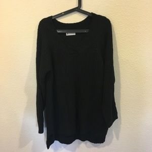 The Impeccable Pig black knit sweater dress